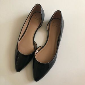 A New Day Black pointed toe flats
